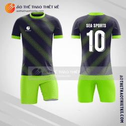 Mẫu áo bóng đá màu đen xanh chuối V1389
