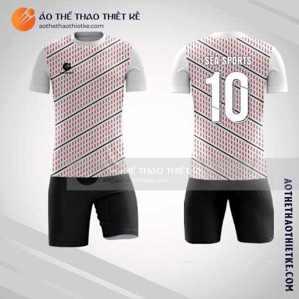 Mẫu áo bóng đá màu hồng trắng V1390