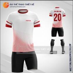 Mẫu áo bóng đá thiết kế Viettel logo thương hiệu mới bản 2 V1429