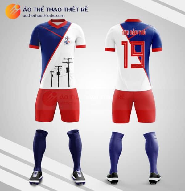 Mẫu quần áo đá bóng thiết kế công ty tập đoàn điện lực EVN V1456
