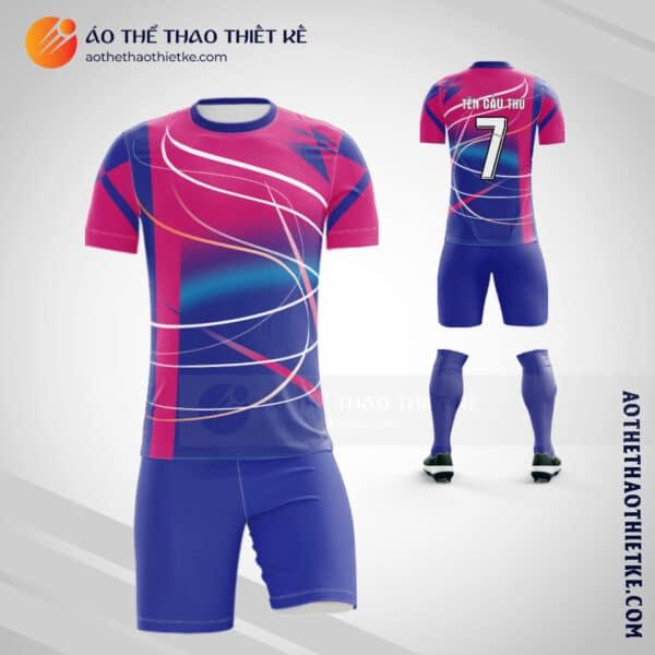 Áo bóng đá Câu lạc bộ bóng đá tự thiết kế màu hồng xanh V1848