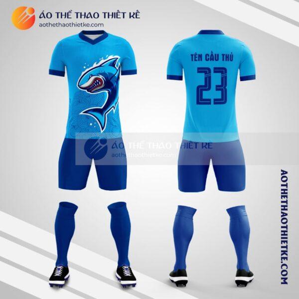 Mẫu áo bóng đá tự thiết kế hình cá mập V2108