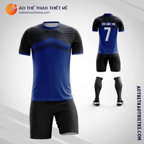 Mẫu áo đá Câu lạc bộ bóng đá tự thiết kế màu xanh tím than V2115