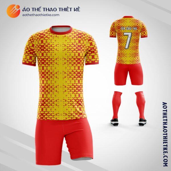 Mẫu áo đá banh câu lạc màu vàng đỏ tự thiết kế V2261