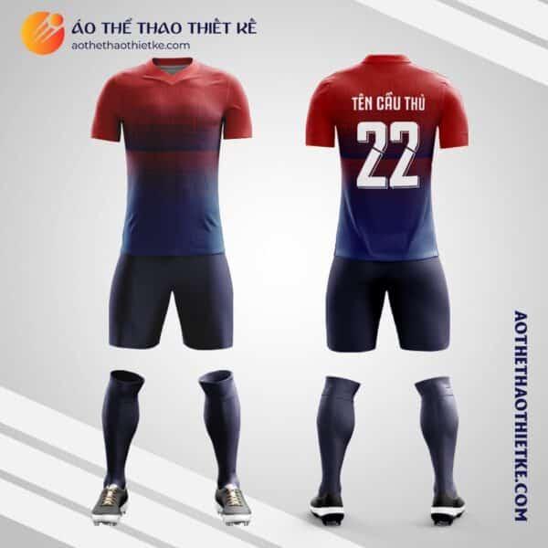 Mẫu áo đội tuyển bóng đá Noruega tự thiết kế V2190